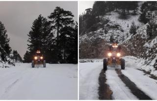 Muğla'nın Yüksek Kesimlerindeki Kar Yağışı...
