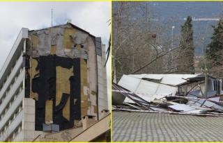 Muğla'da Şiddetli Fırtına Yüksekokulun Dış...