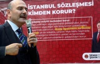 İstanbul Sözleşmesi Hakkında Afişler Astıran...