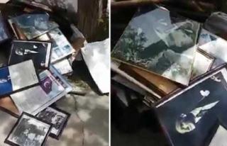 Denizli'de Bir Okulun Çöpünden Atatürk Posteri...