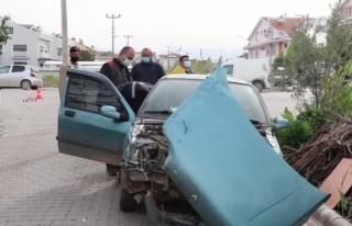 Fethiye'de Otomobille Çarpışan Motosikletteki...