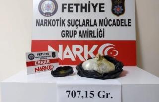 Fethiye'de Uyuşturucu Operasyonunda Yakalanan...