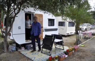 Marmaris'te Tam Kapanma Öncesi Çadır ve Kamp...