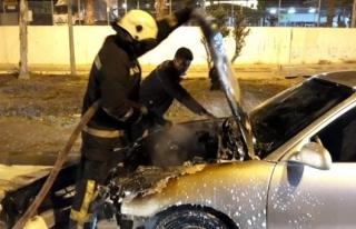 Bodrum'da Seyir Halindeki Otomobil Bir Anda Alev...