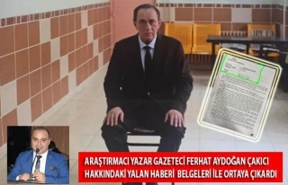 Ferhat Aydoğan Belgeleriyle Yazdı! ''Çakıcı'ya...