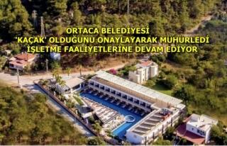SARIGERME'DEKİ KAÇAK OTELİN YIKIMININ GECİKMESİNDE...