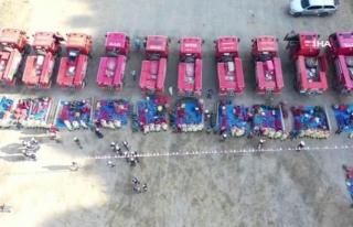 Yangın Söndürme Ekipleri İşbaşı Eğitimi Aldı