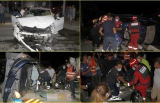 Fethiye'de İki Otomobilin Çarpıştığı Kazada...