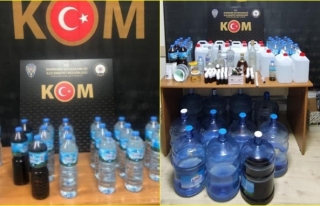 Marmaris'te Çadırda Sahte İçki Üretimine...