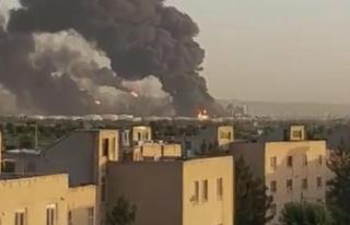 Tahran'da Petrol Rafinerinde Büyük Yangın!...