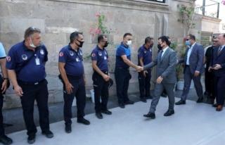 Bodrum Belediye Başkanı Ahmet Aras, Personeli ile...