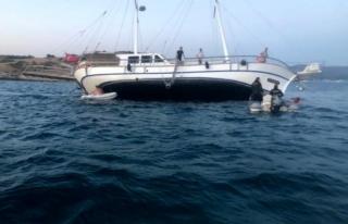 Bodrum'da Milyon Dolarlık Tur Teknesi Karaya...