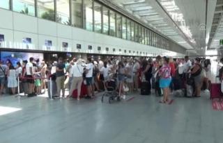 Dalaman Havalimanı'nda Bayram Tatilinde Gerçekleştirilen...