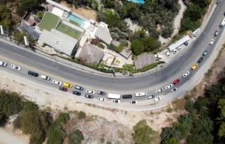Fethiye'de Bayram Tatili Yoğunluğu Drone ile...