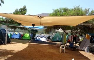 Marmaris'teki Kamp Alanları Kurban Bayramı...