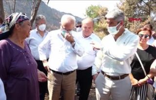 CHP'li Milletvekilleri Marmaris'teki Yangından...