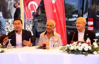 Kılıçdaroğlu, Bodrum'da Yanan Bölgeleri...