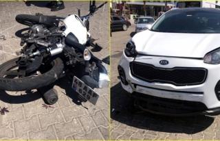 Marmaris'te Meydana Gelen Kazada Motosiklet Sürücüsü...