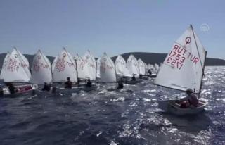 Bodrum'da TYF 2021 Optimist Türkiye Şampiyonası...