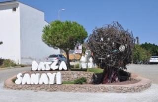 Datça'da Yapılan Sanayi Ağacı Heykelinin...