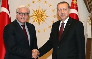 Erdoğan, Almanya Cumhurbaşkanı Steinmeier'le...