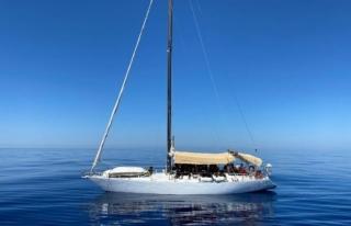 Fethiye'deki Yelkenli Teknede Düzensiz Göçmenler...