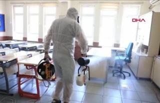 Marmaris'teki Okullar Dezenfekte Edildi