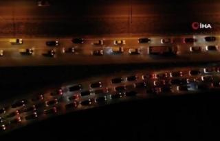 43 İlin Kilit Kavşağında Trafik Yoğunluğu