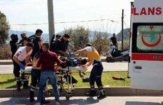 BODRUM'DA MOTOSİKLET KAZASIN'DA 1 KİŞİ...
