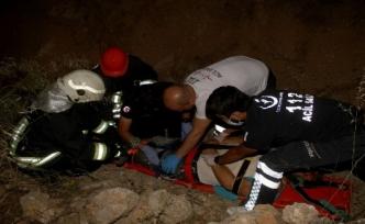 Fethiye'de Motosiklet Dereye Uçtu: 2 Yaralı!