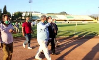 Muğla Valisi Orhan Tavlı, Muğlaspor'u Ziyaret Etti