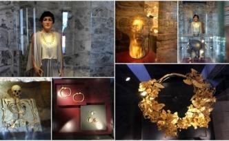 """""""Karyalı Prenses""""in Mezarı ve Altın Takıları Yeni Salonunda İlgi Görüyor"""