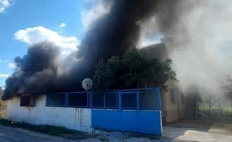 Ula'da Kalorifer Kazanından Çıkan Yangın İtfaiye Tarafından Söndürüldü