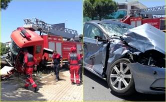 Menteşe'de İtfaiye Aracı Kazaya Karıştı: 5 Yaralı