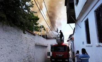 Menteşe'de Korkutan Yangın