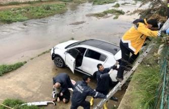 Fethiye'de Otomobil Sulama Kanalına Uçtu: 1 Yaralı