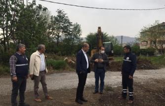 Başkan Uzundemir Ortaca'daki Yol Genişletme Çalışmalarını İnceledi