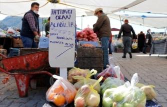 Fethiye'de Pazar Esnafından Anlamlı Hareket!