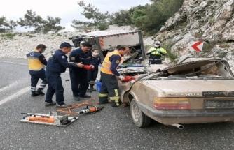 Sakar Rampasında Kaza: 4 Kişi Yaralandı!