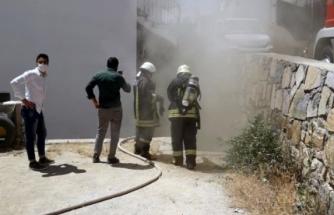 Bodrum'da Bir Evde Yangın Çıktı