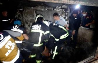 Fethiye'de, Evini Ateşe Verdiği İddia Edilen Kişi Öldü