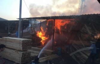 Ortaca'da Bir Kereste Deposunda Yangın Çıktı!