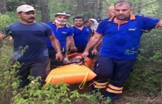 Köyceğiz'de Sarp Arazide Kalan Vatandaşı AFAD Kurtardı