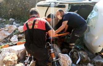 Marmaris'te Bir Otomobil Dereye Uçtu: 4 Yaralı!