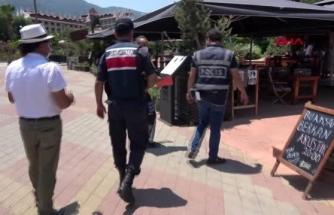 Marmaris'te Kovid-19 Tedbirleri Denetimi