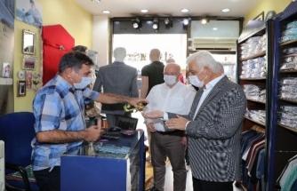 Muğla'da Başkanlardan Esnaf Maske-Mesafe Uyarısı