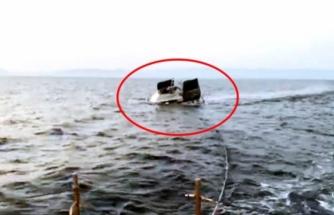 Yunan Askerlerinin Ateş Açtığı Teknenin Batışı Görüntülendi
