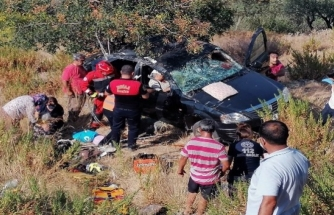 Dalaman'da Araçta Sıkışan Kadını İtfaiye Ekipleri Kurtardı