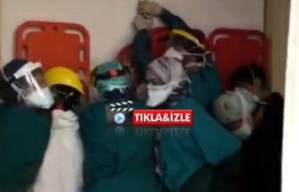 Sağlıkta Şiddette Utandıran Görüntüler: Hasta Yakınları Acili Bastı!