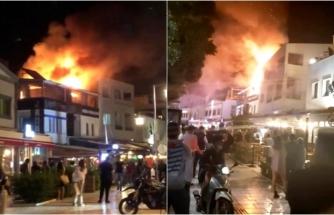 Bodrum'da Otelin Çatısında Çıkan Yangın Korkuttu